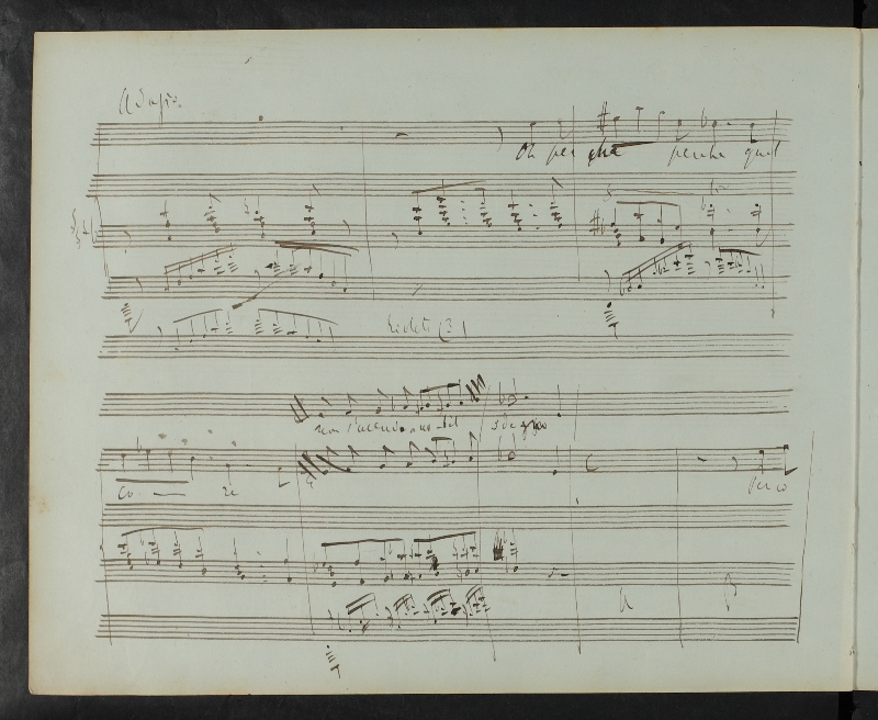 A page of Liszt's draft to Sardanapalo. Klassik Stiftung Weimar, GSA 60 / N4