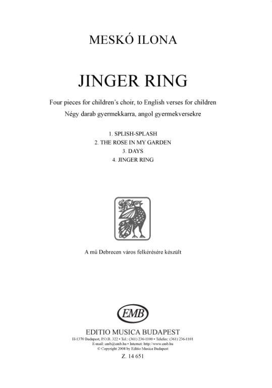 Dobszay-Meskó: Jinger ring – Online sheet music shop of